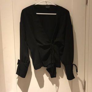 Black (S) Topshop Kimono blouse